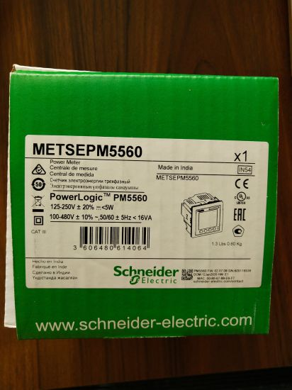 Pm5560 Meter, 2 Ethernet, up to 63th H, 1, 1m 4di/2do 52 Alarms, Electric Energy Meter