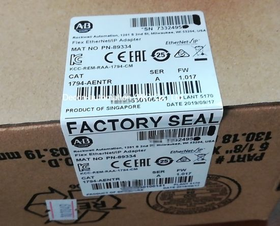 Allen-Bradley Series a 1794-Aentr Adapter Module with Flex I/O Ethernet/IP