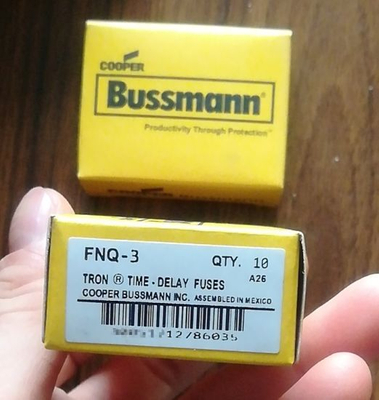 Bussmann / Eaton Fnq-3 Midget Fuse for Industrial / Power